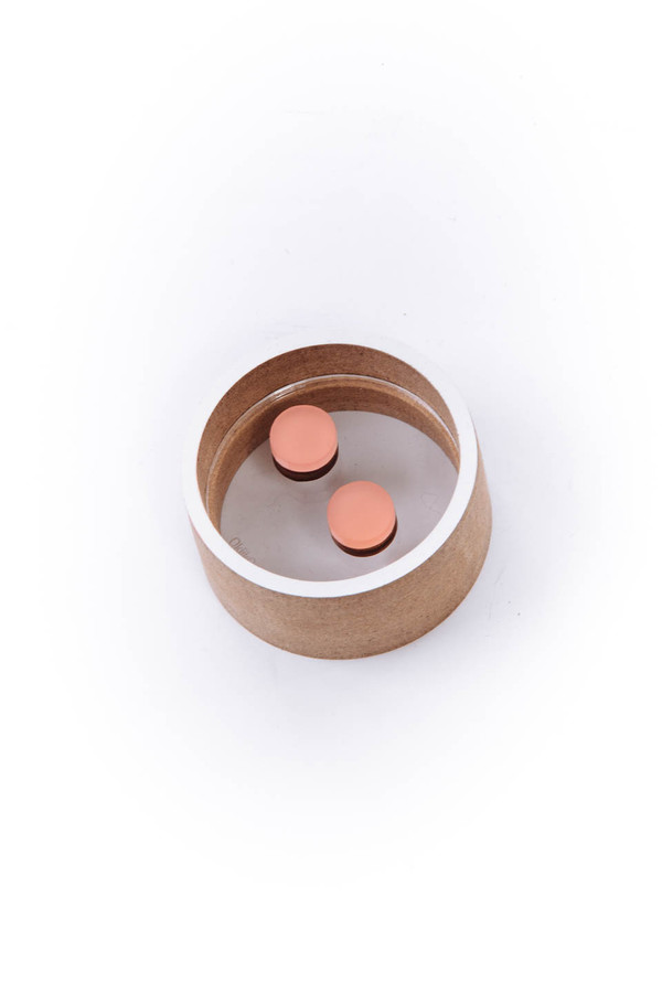 OkiikO Asorti Stud Earrings (Large Pink Circles)