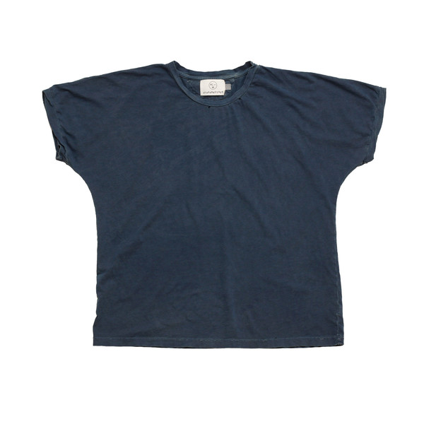 Olderbrother Hand Me Down - Anti-fit Tee - Indigo Plus