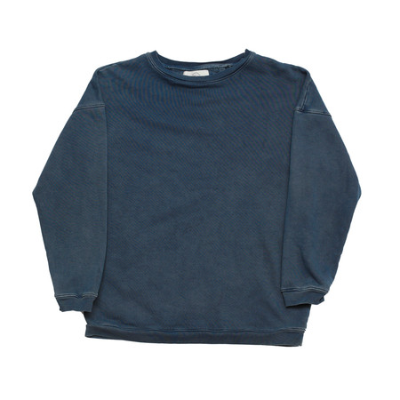 Olderbrother Hand Me Down - Drop Shoulder Crew - Indigo Plus
