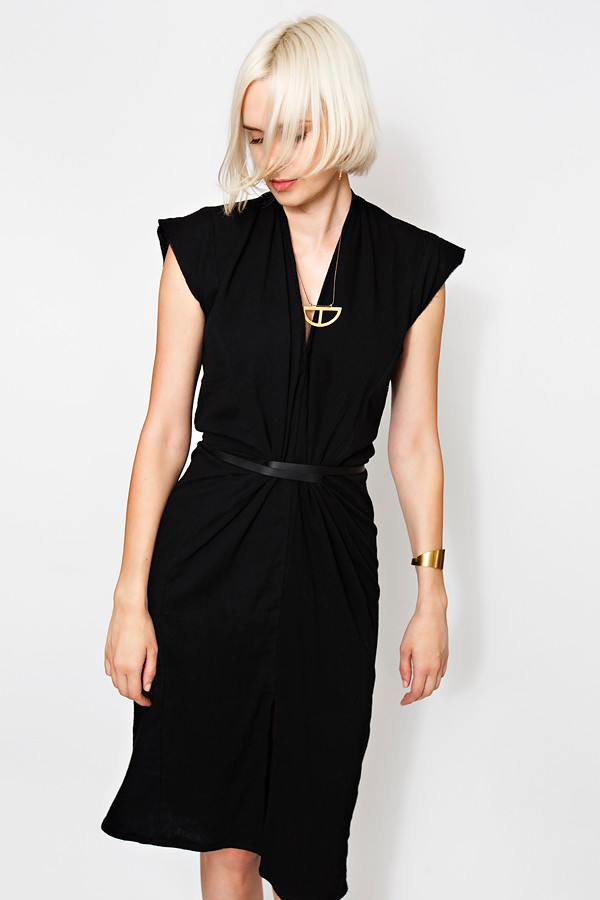 Miranda Bennett Vision Dress | Lined Cotton Gauze in Black