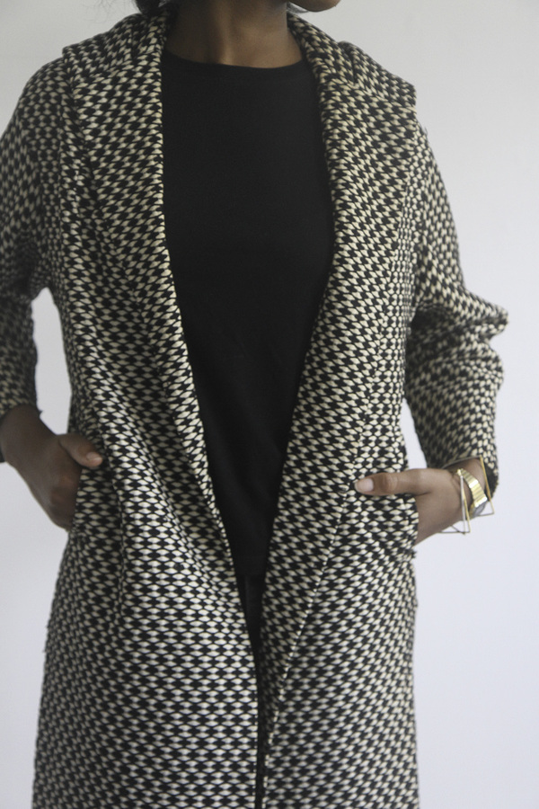The Shudio Vintage Patterned Long Coat