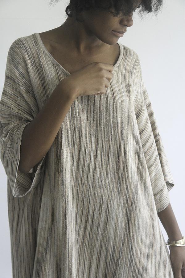 The Shudio Vintage Wide Spacedye Sweater Dress