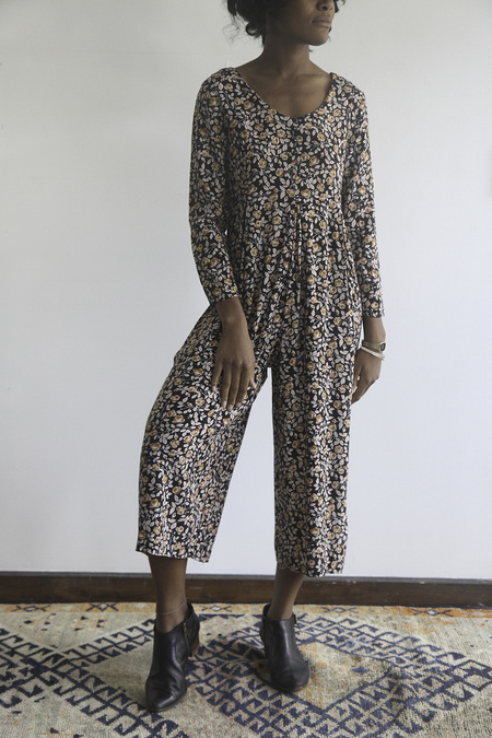 The Shudio Vintage Floral Jumpsuit