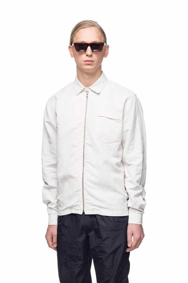 Men's OUR LEGACY - Coated Short Zip Shirt