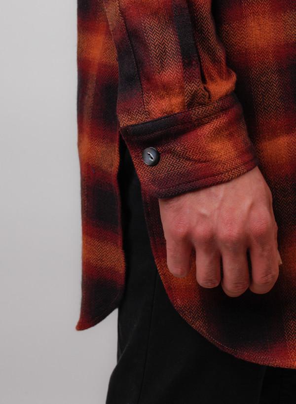 Men's Needles Cardigan Shirt - Herringbone Ombre Plaid
