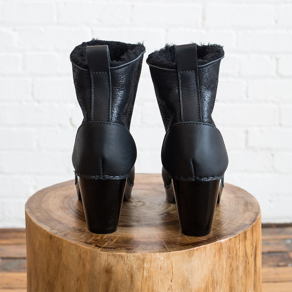 """No. 6 5"""" Pull on Shearling Boot High Heel"""