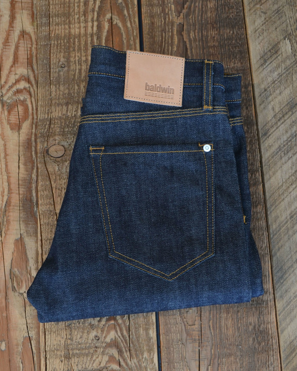 Men's BALDWIN - Henley Raw Indigo Slvge