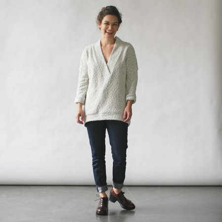 Make It Good Pebble Knit Tunic in Cream