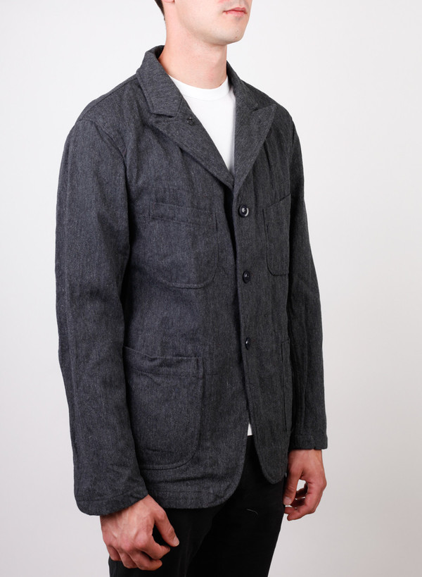 Men's Engineered Garments Bedford Jacket Charcoal Wool Serge