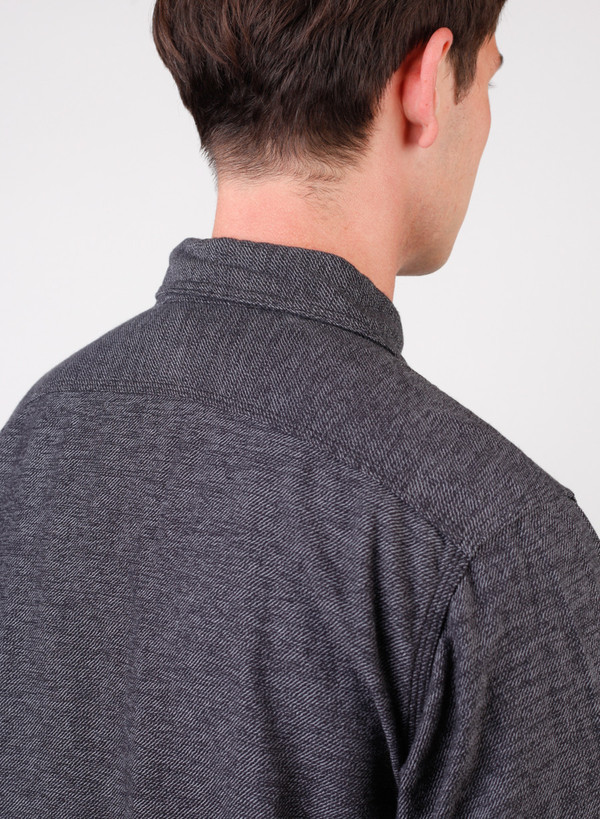 Men's Engineered Garments Work Shirt Grey/Black Broken Twill