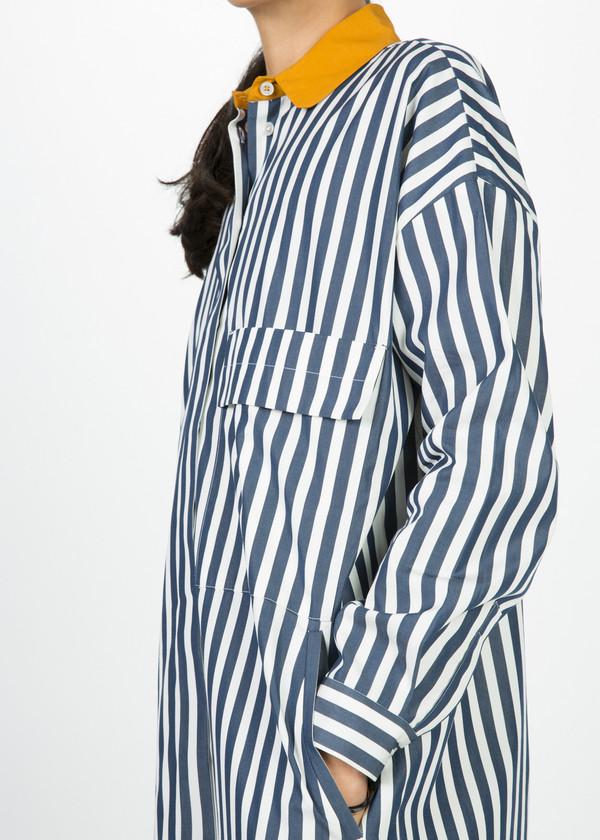 Odeeh Contrast Collar Shirtdress