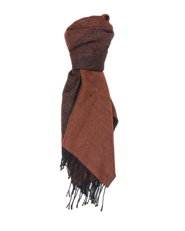 A Peace Treaty Handwoven Mera Scarf in Black & Rust
