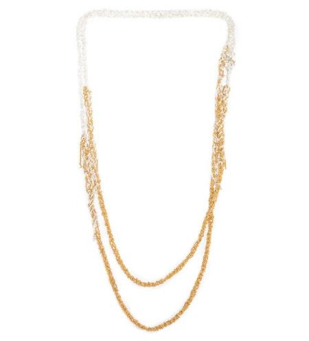 Arielle De Pinto 4-Tone Simple Necklace in Gold + Silver