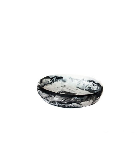 Dinosaur Designs Small Earth Bowl in Black + Snow Swirl