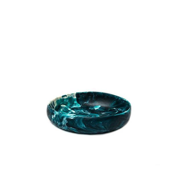 Dinosaur Designs Small Earth Bowl in Moody Blue Swirl