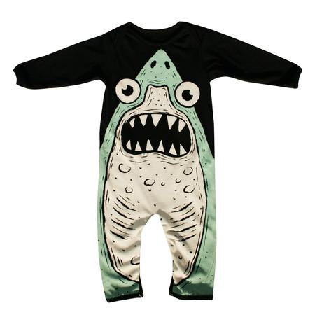 Kids' Electrik Kidz Organic Cotton Shark Onesie
