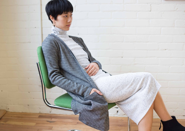 Hutchison Yuna Cardigan (Heather Black)