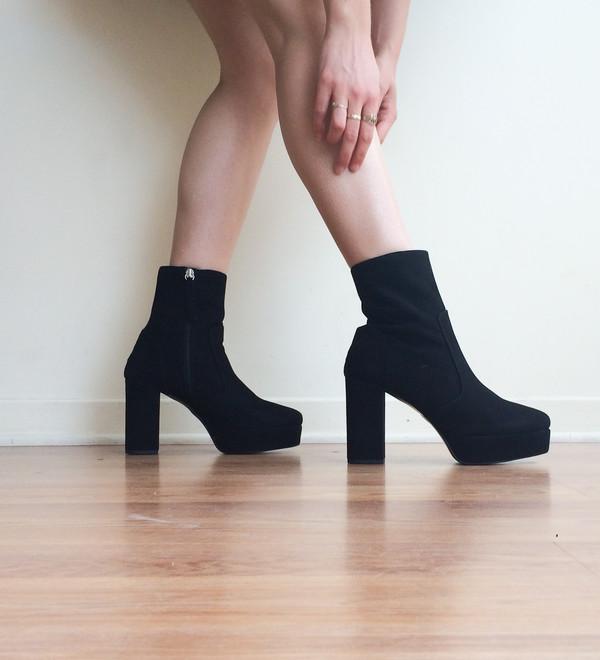 L'Intervalle Ventura Boots - Black Suede