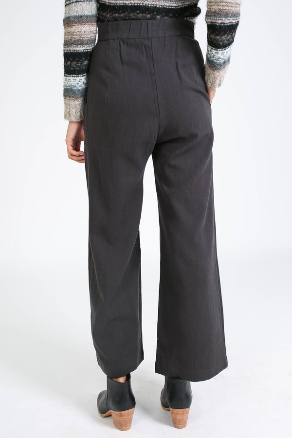 First Rite Wide trouser in charcoal