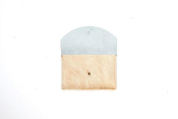 Primecut TAN COWHIDE PASSPORT CLUTCH