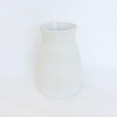 Ashley Hardy Large White Crackle Vase