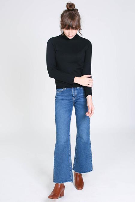 Evam Eva Cotton cashmere turtleneck in black