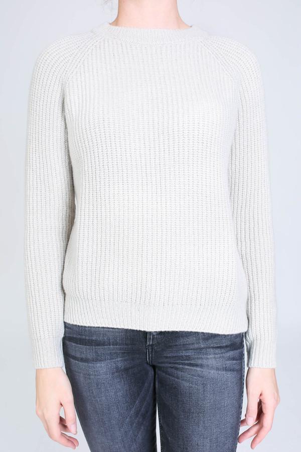 Evam Eva Wool cashmere raglan pullover in antique white