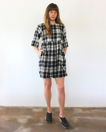 Esby WILLOW BABYDOLL DRESS - PLAID