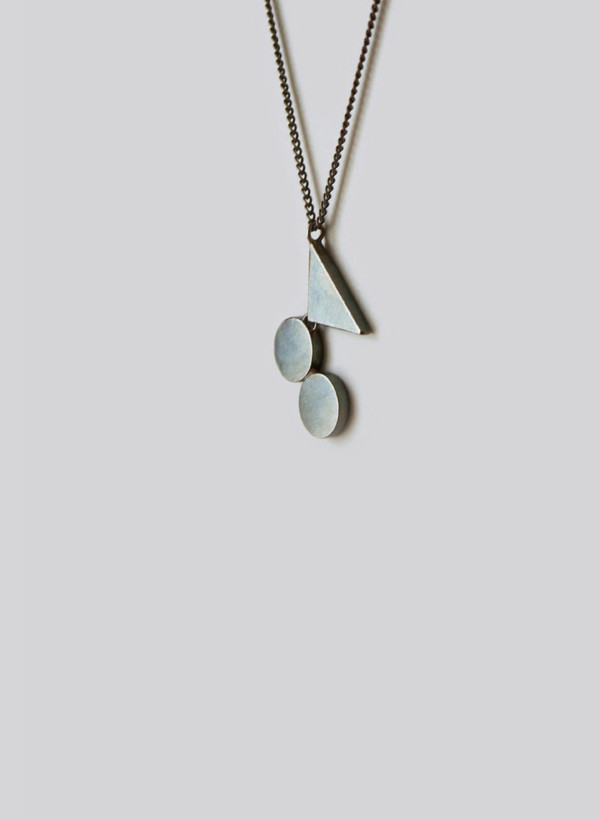 Naoko Ogawa Circle Triangle Fulcrum Necklace