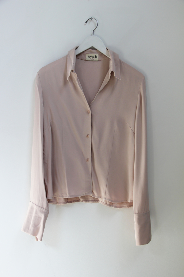 Hey Jude Lilac Silk Blouse