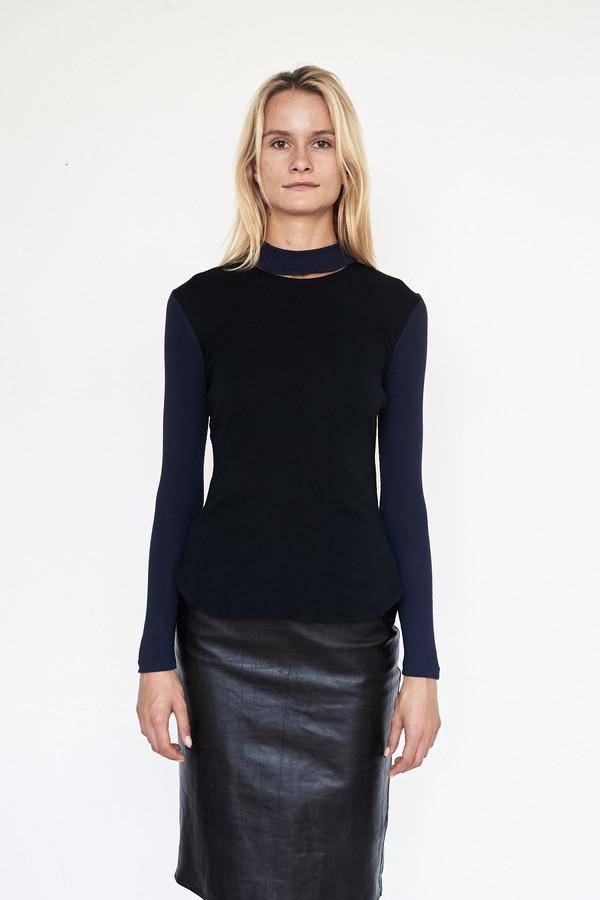 Tosia Ribbed Knit Illusion Turtleneck