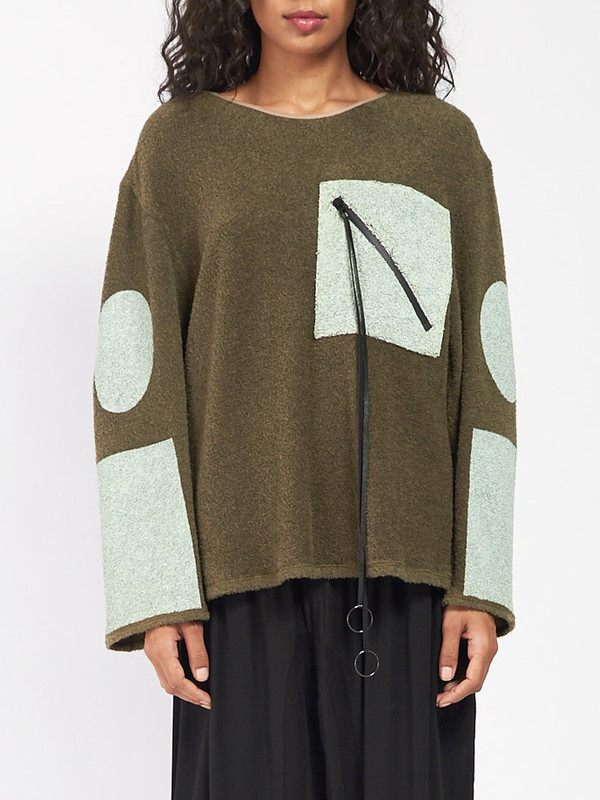 CF Goldman Patch Pullover Green