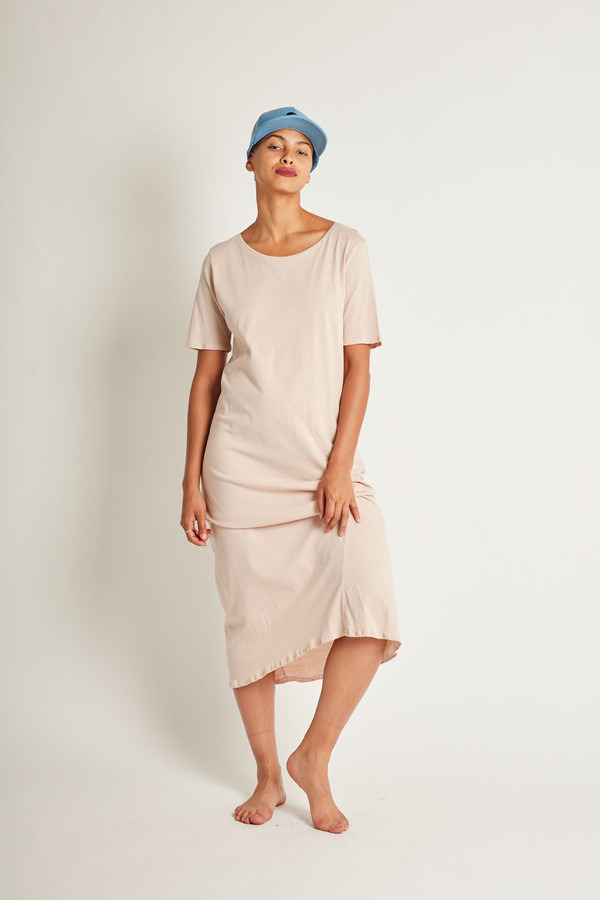 Kowtow Building Block Tee Shirt Dress in Blush