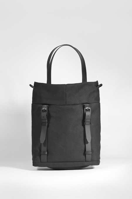 Cote & Ciel Saar Small Waxed Canvas | Black