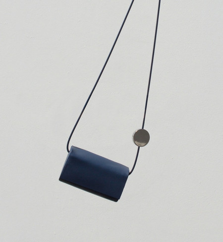 Building Block Navy Petite Bag