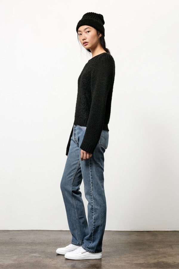Osei-Duro Boucle Pullover Sweater in Black