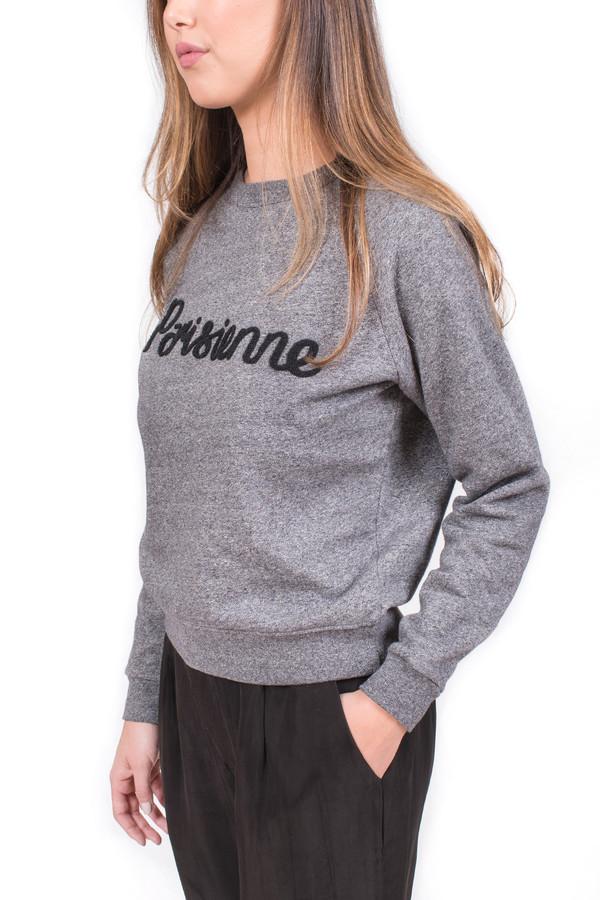Maison Kitsune Parisienne Sweatshirt Black Melange