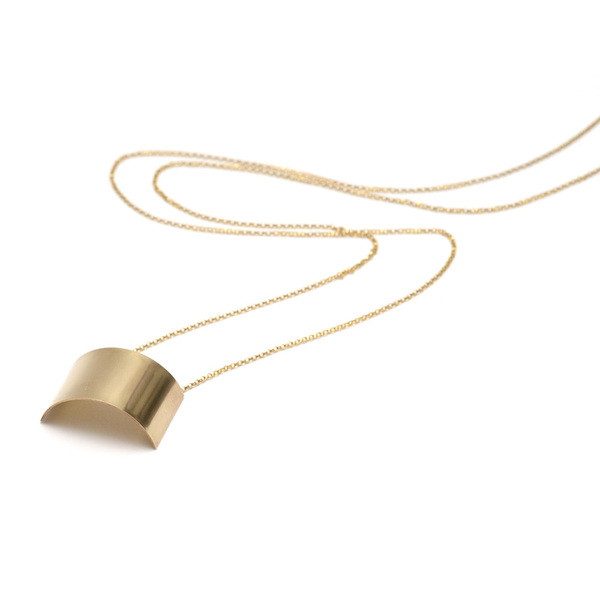 necklace,gold,cusp Gold Cusp Necklace