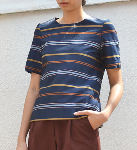 Steven Alan Multi Stripe Etch Top