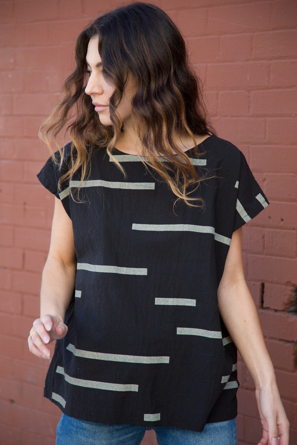 Uzi NYC uzi broken stripe tunic