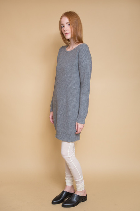 Callahan Crewneck Dress - Grey