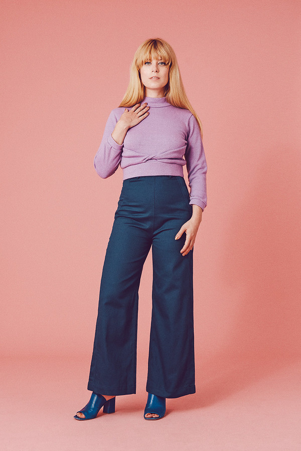 Samantha Pleet Plank Jeans - Navy