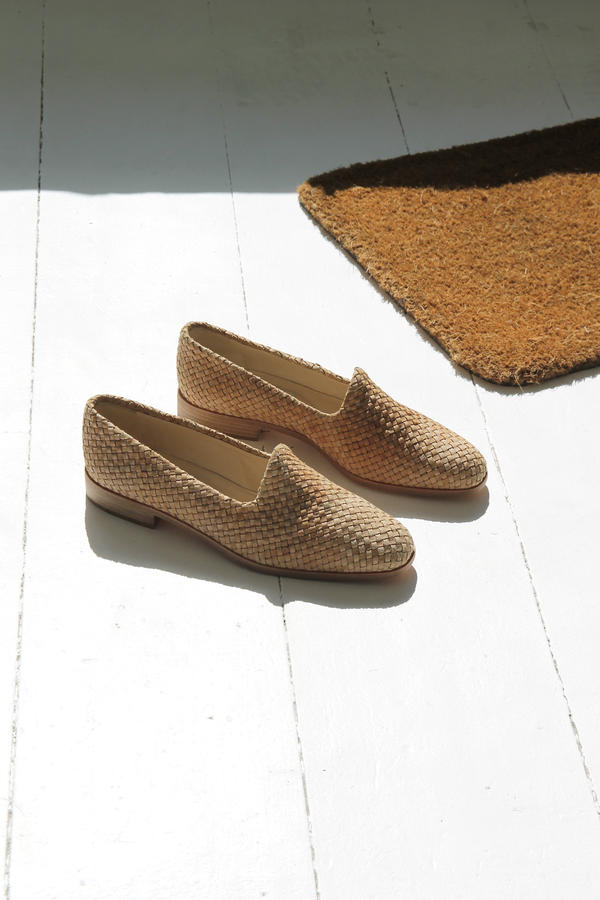 DUO NYC Vintage Woven Leather Loafers