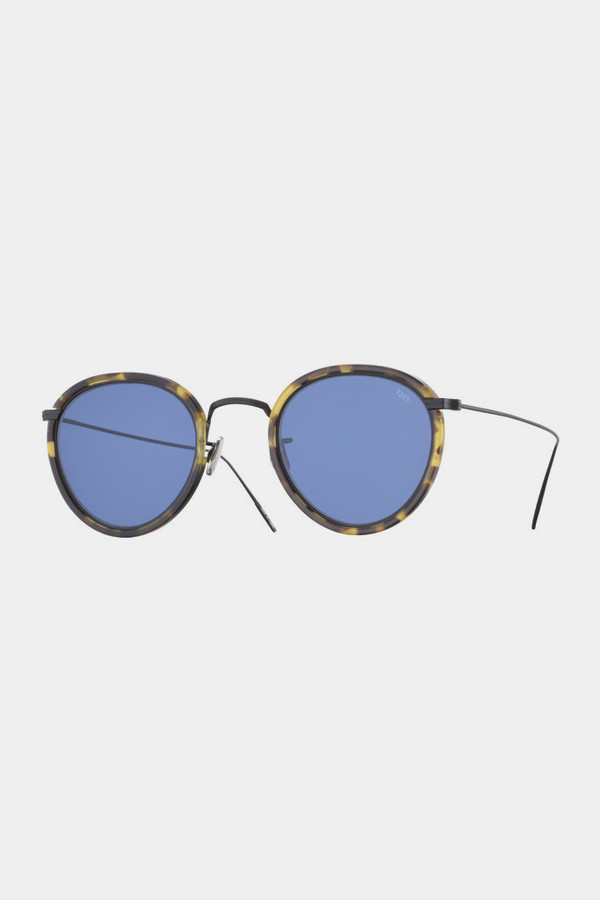 Men's Eyevan7285 Acetate 717 Sunglasses - Blue