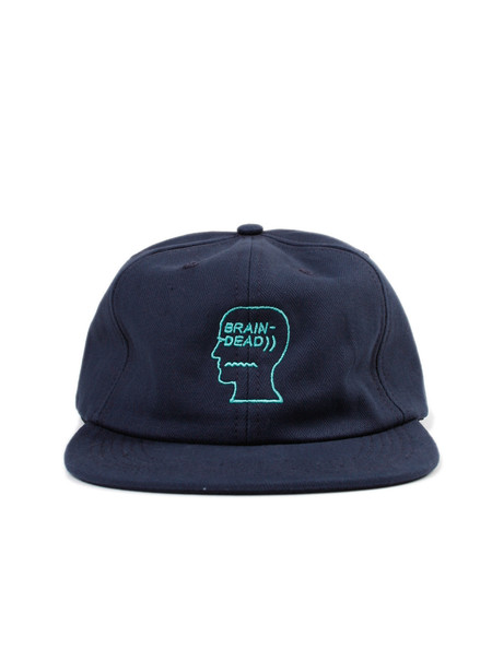 Brain Dead Herringbone Logo Hat Navy