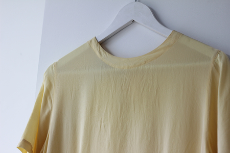 Hey Jude Dusty Yellow Silk Tee