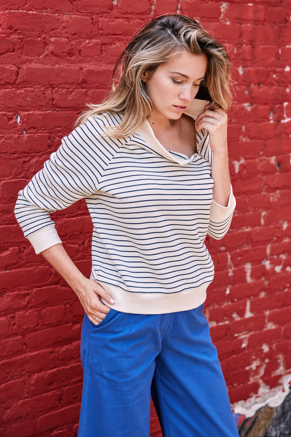 LOUP Striped Holly Sweatshirt