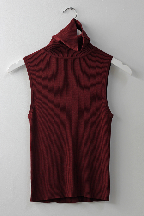 Hey Jude Vintage Knit Sleeveless Turtleneck
