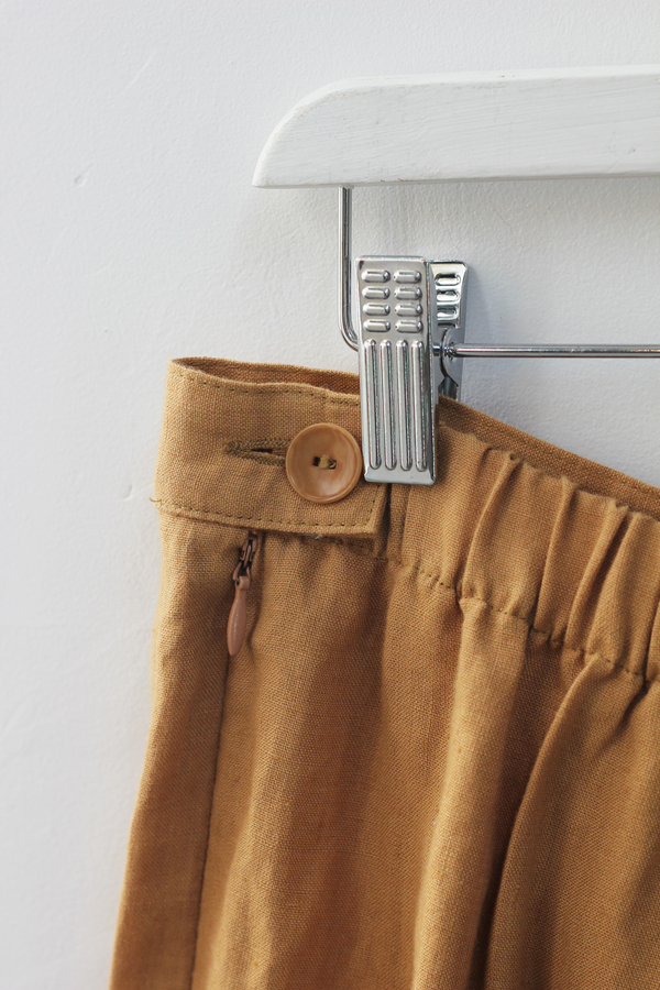 Hey Jude Vintage Caramel Linen Trousers