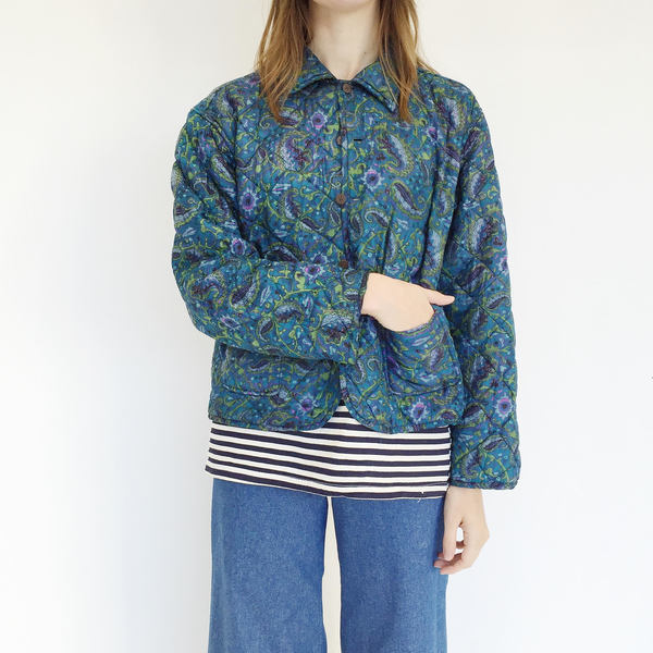 Johan Vintage Quilted Reversible Silk Jacket